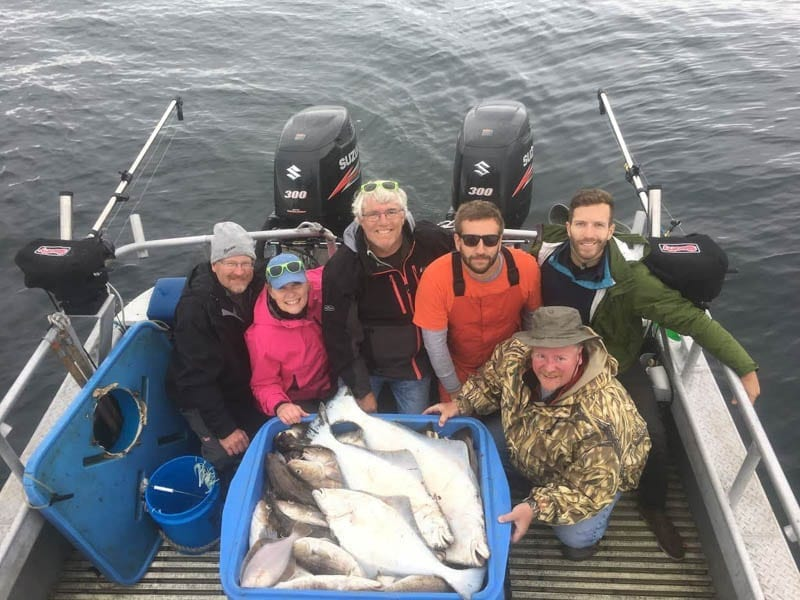 Kodiak Halibut Charter at its best on Fish N' Chips Charters on Happy Family!