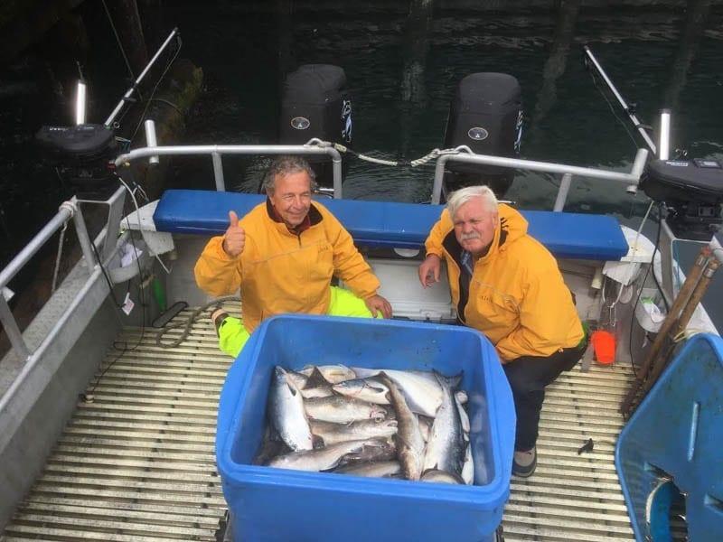 Brothers Kodiak Island Fishing Limits out on King Salmon - Fish N' Chips Charters  - Alaska